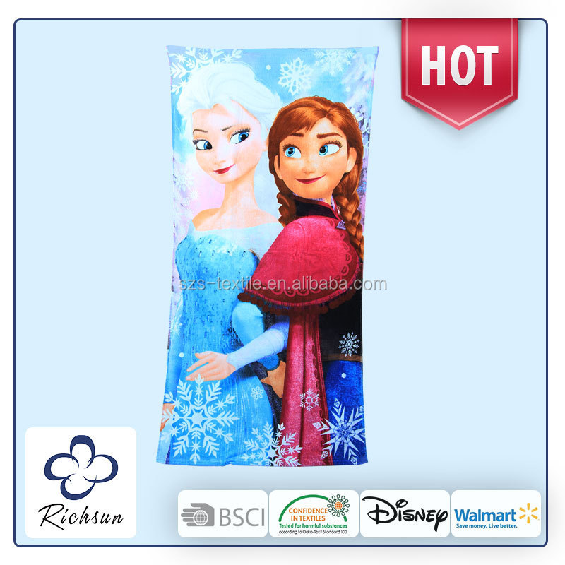 christmas frozen beach towel for children