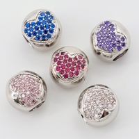 Big Hole Beads Brass CZ Jewelry