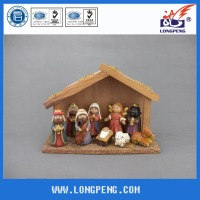 "7"" Holiday Time Cartoon Christmas Nativity Figurines Set ,Resin Nativity Scene with Manger, Jesus, Mary, Joseph, Angel,3 Kings"
