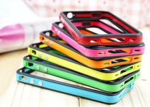 protector Plastic case for iphone 5 5s bumper cover double color bumpers