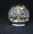 Battery Powered LED Lighted decorative christmas Glass Ball ornaments