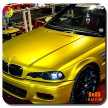 TSAUTOP 1.52*20m new styling gold color matte chrome matte vinyl car wrap