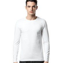 bulk wholesale clothing high quality 100% cotton t shirt blank long sleeve custom white men t shirts manufacturers china OEM