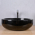 Polished small round shape natural stone bathroom vessel sinks