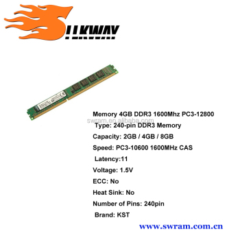 LONG-DIMM RAM memoria ram DDR3 1333mhz PC3-10600 CL 9 4GB