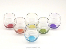 Colorful Tumbler Whisky/Water/Juice Glass Set of 6 Drinking Cups Gift Box