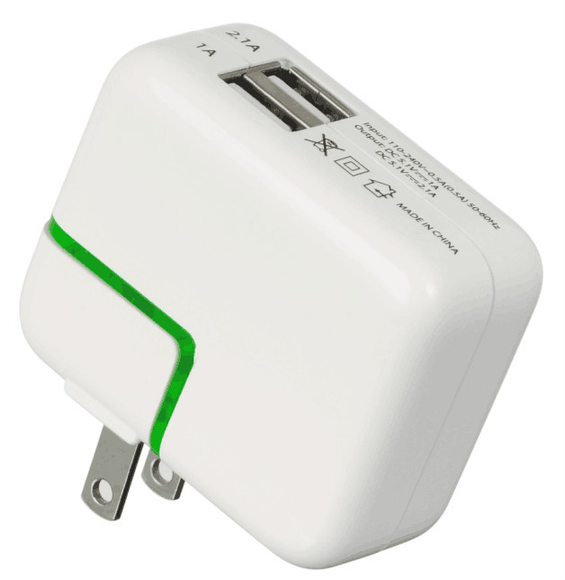DCTE050100 USB Travel Charger with Dual output 5V 2.1A max DC output 5V usb travel charger