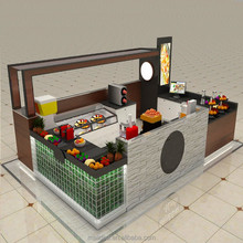 Myidea customized mall fruit juice bar kiosk design/fruit salad kiosk design