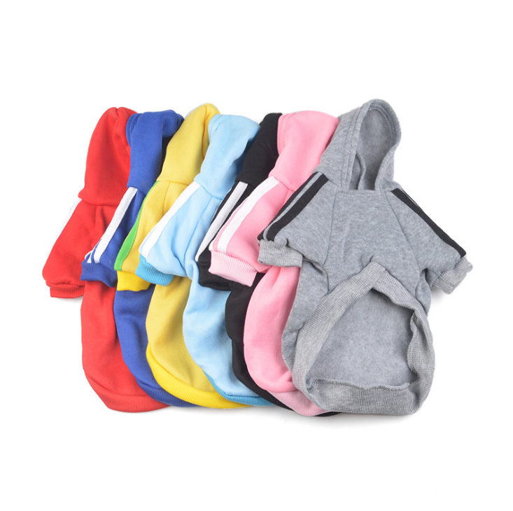 blank dog pajamas pure color pet dog clothes with hat good quality dog hoodie