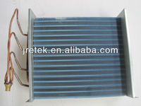blue aluminium finned copper tube evaporator coil for refrigerator