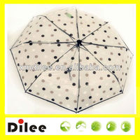 black dots and lace poe transparent umbrella