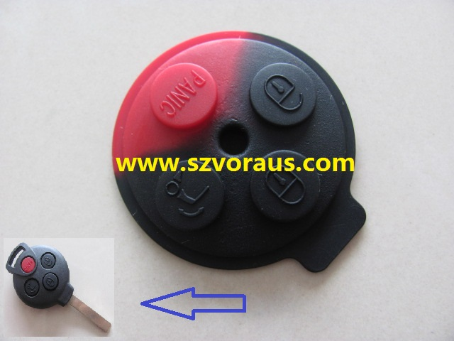 Benz Smart remote key 4 button rubber pad