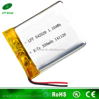 power supply 542529 li-ion battery 3.7v 320mah polymer accu