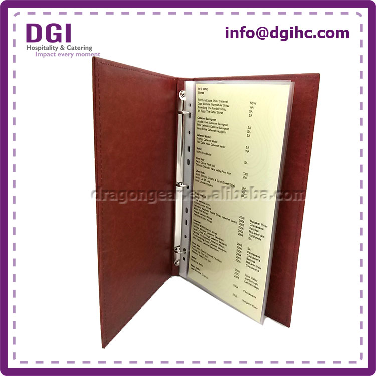 Color customized high quality hard plastic ring binder cases file holder