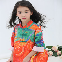 2017 New children gown of fashion dresses for 2-8 years girl child