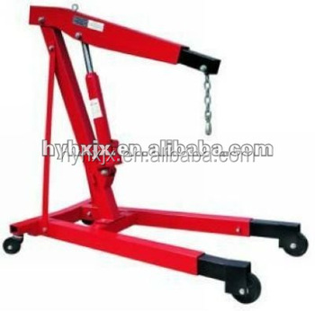 unfoldable hydraulic shop crane