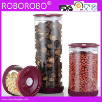 Glass Storage Jars With PP And Silicone Seal Lids