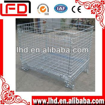 steel transports to wire mesh cage