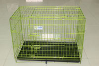 2017 wholesale cheap double door pet dog crate / metal iron wire dog kennel / folding dog cage