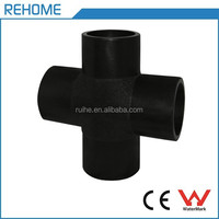 Shanghai Ruihe ISO4427 cross butt welding recycled HDPE pipe fittings