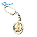 Novelty design spinning metal custom souvenir keychain