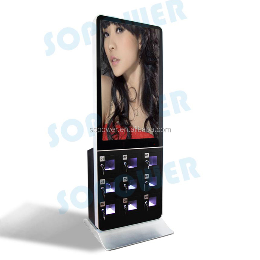 "Cellphone charge locker 42""ceiling suspended lcd advertising player/monitor/display/digital signage"