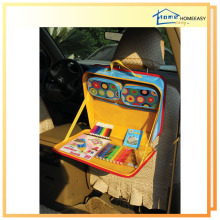 Car hanging organizer seat back pocket, kid car seat back organizer with tray