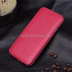 Credit Card/ ID Card Holder Genuine Leather OEM Mobile Phone Case for iPhone 4