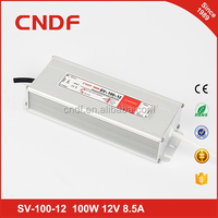 CNDF constant voltage 100W 12V 8.5A LED waterproof switch power supply SV-100-12
