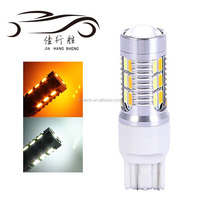 T20 7443 22SMD 5630 LED Car Dual Color Cold White / Amber Switchback LED Turn Light W21W Tail Brake T20 Bulbs Lights 12V