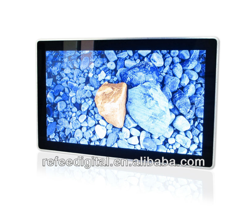 "Network 15.6"" full HD wall mounted LCD digital signage,touch screen,motion sensor option"