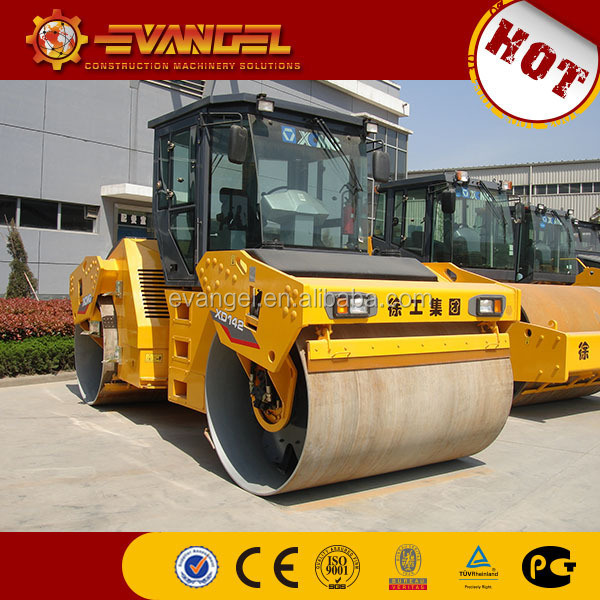 handheld vibrating road roller XCMG Brand small road Roller XD142 road roller capacity for sale