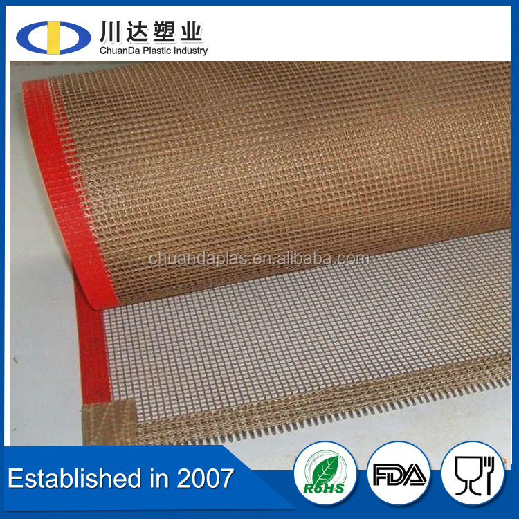 China best products for import PTFE mesh conveyor belt, non stick surface PTFE conveyor belt