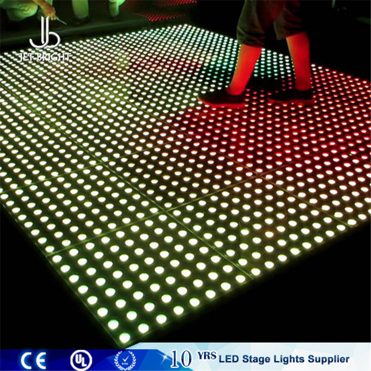 Jet Bright led rgb stage lighting panel dance floor mat with flight case