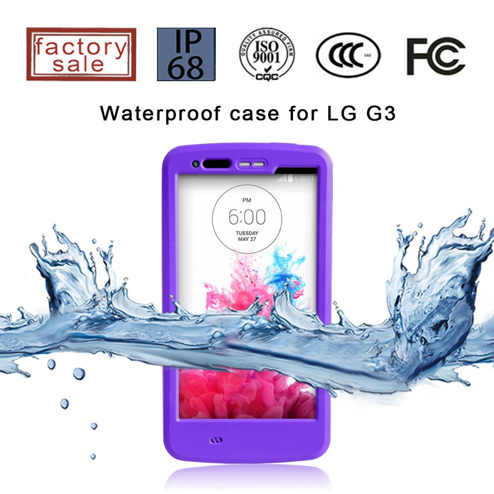 2015 Hot Sales Top Quality Promotional Price Waterproof Case for lg optimus g3
