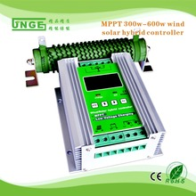 MPPT 600W wind/solar Hybrid Controller 12v/24v Charge Controller with LCD display