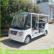 China low price CE approved electric new sightseeing 8 passengers mini bus tourist shuttle bus for sale