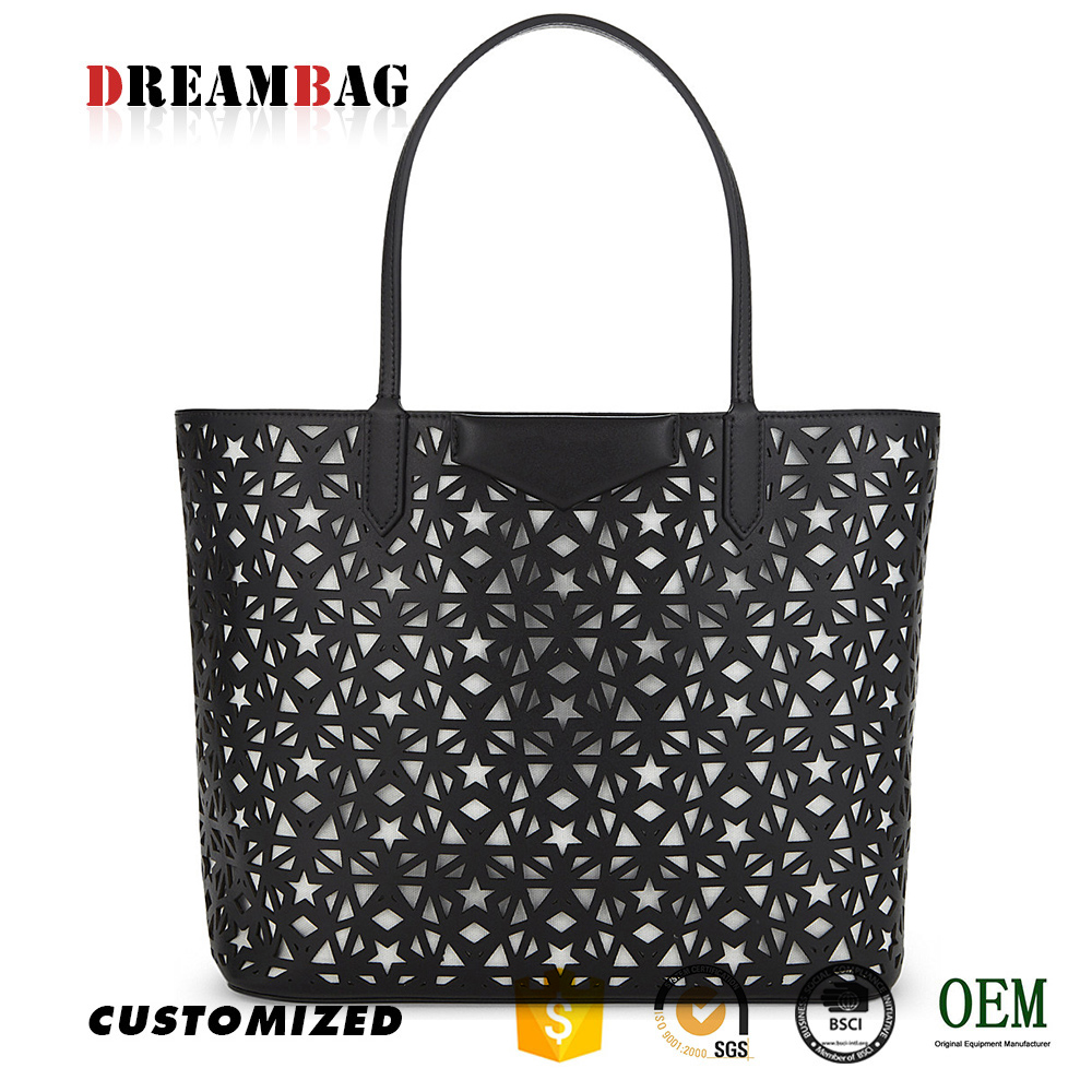 Guangzhou top grade OEM perforated design mexican handbags designers
