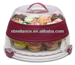 Plastic Collapsible Cupcake and Cake Carrier Cupcake keeper