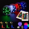 10-LED RGB Submersible LED Light, Multi Color Waterproof Wedding Party Vase Base Floral Light + Romote Control