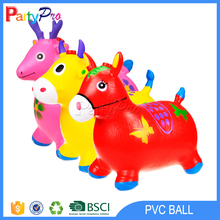 Exercise body ball kids play bouncing horse inflatable animal toy bounce ball