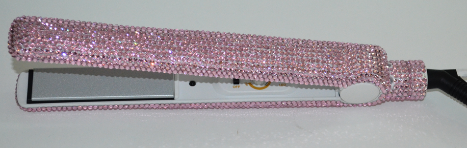 Professional hair beauty bling rhinestone crystal hair straightening flat iron