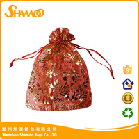 Customized jewelry gift wrap yarn bag and candy colorful drawstring bag