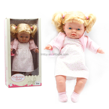 33 cm High Washable Soft Body Play Lifelike Baby Doll with Curly Hair For Children