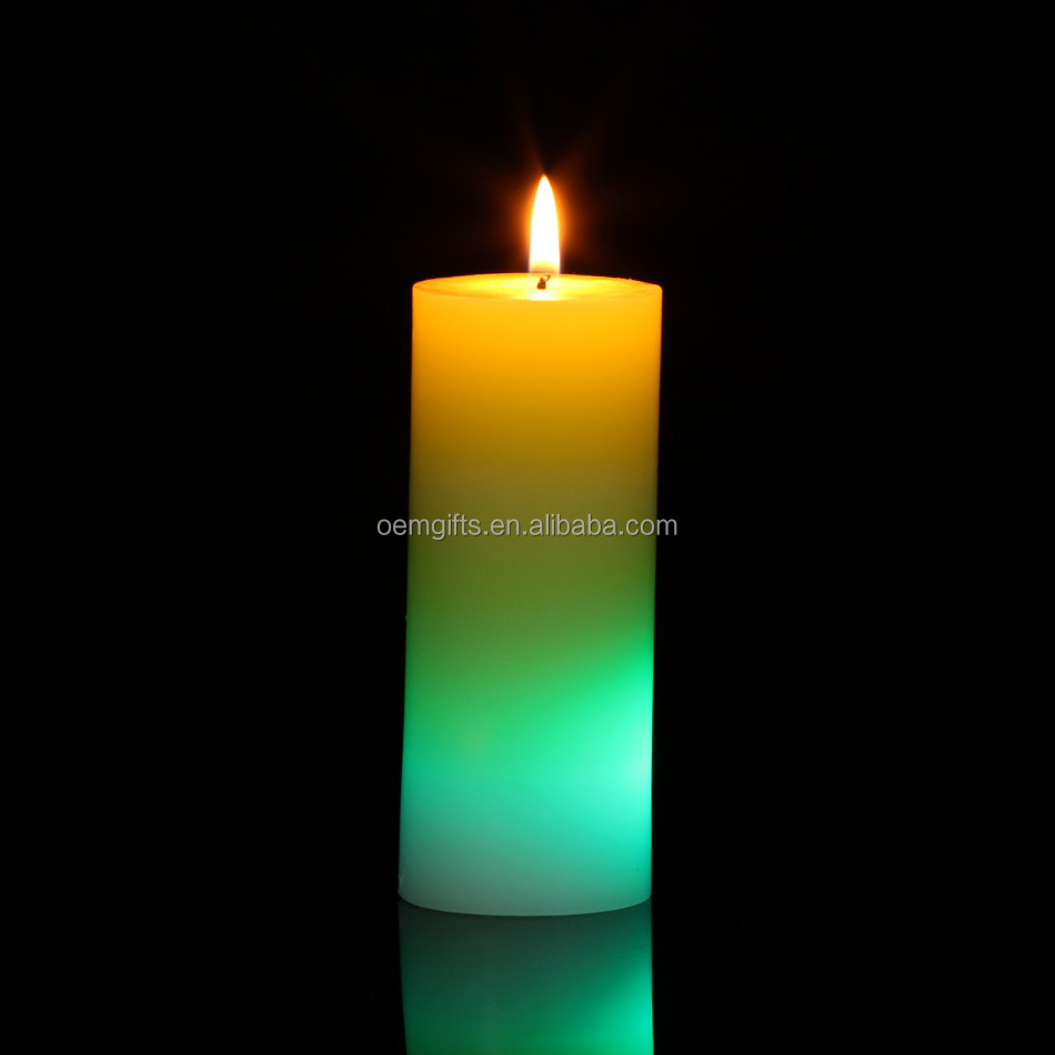 Wholesale led pillar candle with different color buy led for Different brands of candles