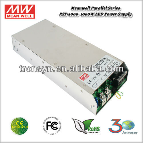 Meanwell RSP-1000-27 (1000W 27V 37A) 1000W Single Output High Voltage Power Supply Built-in PFC PF>0.95