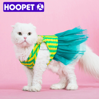 HOOPET charming design cheap lace stripes dress for pet dog small cat cloth