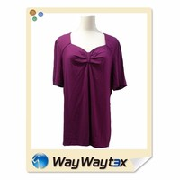 OEM No1 viscose fabric short sleeves plus size women clothing made in Vietnam