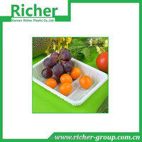 Disposable see through plastic fruit packing box