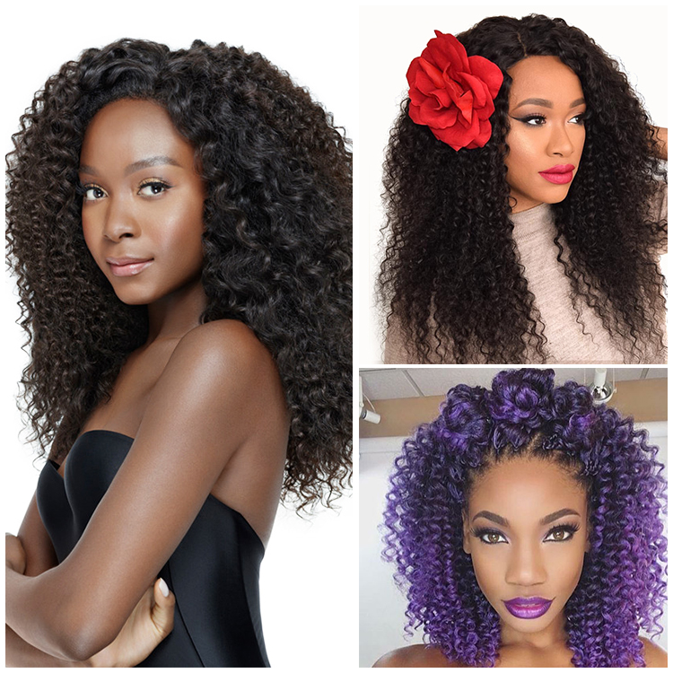 Unprocessed brazilian deep wave hair,cheap kinky curly clip in hair extensions for black women,mcsara hair